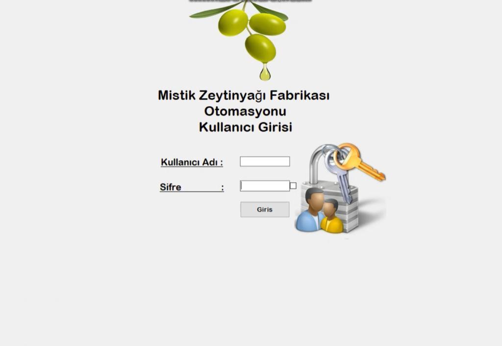 Zeytinyağı Fabrikası Otomasyon Yazılımı
